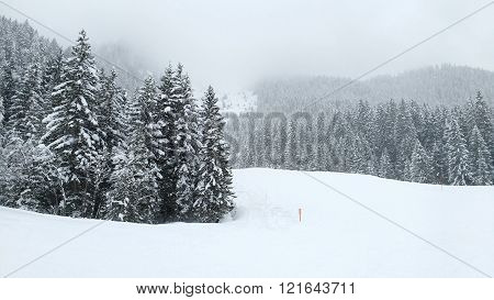 Ski resort in Austria - winter view of Bad Hofgastein slopes in High Tauern (Hohe Tauern) mountain range in Alps. poster