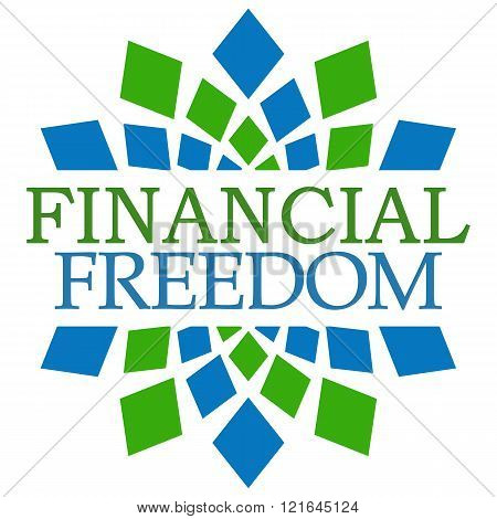 Financial Freedom Green Blue Elements Square