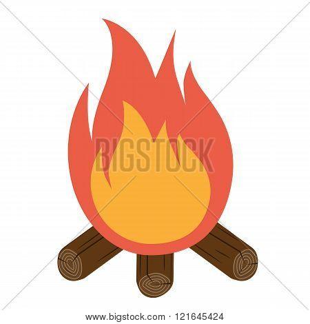 Bonfire Icon Vector. Campfire Icon.