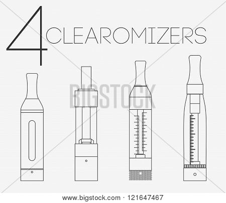 4 Thin Lines Clearomizers Set