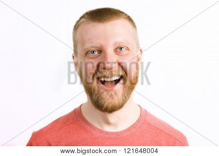 Happy Cheerful Young Man