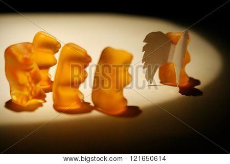 Gummy bears sadness