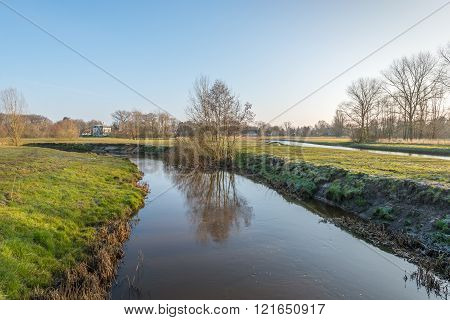 Dutch Landscape In The Winter Season