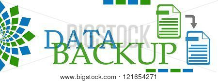 Data Backup Green Blue Elements Horizontal