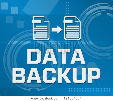 Data Backup Technical Background Square