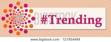 Trending Pink Orange White Horizontal