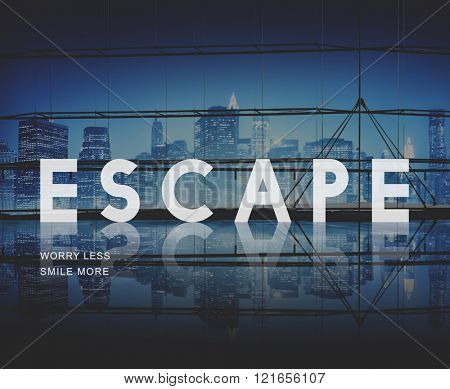 Escape Way out Breakout Evacuation Concept poster