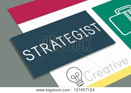 Business Strategist Strategic Tactics Vision Concept