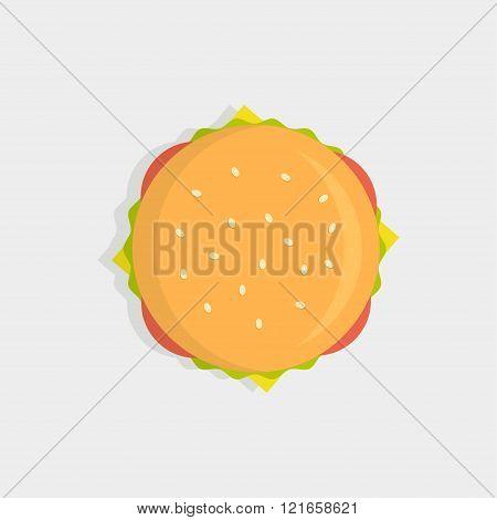 Burger Top View