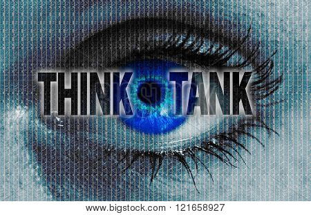 Thinktank Eye Looks At Viewer Concept Background