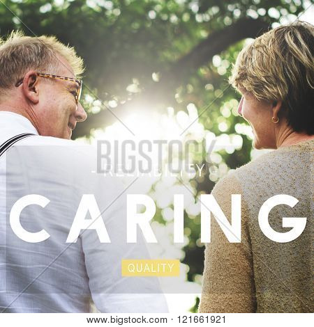 Caring Assurance Attention Protection Tend Care Concept