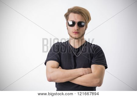 Portrait of handsome blond young man
