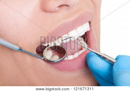 Oral Hygienist At Work