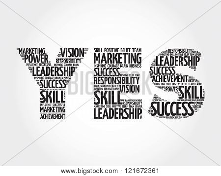 YES word cloud business concept, presentation background