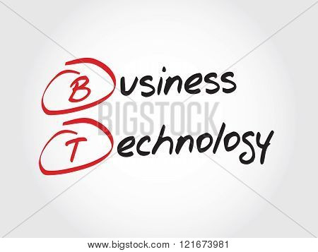 BT - Business Technology, acronym business concept
