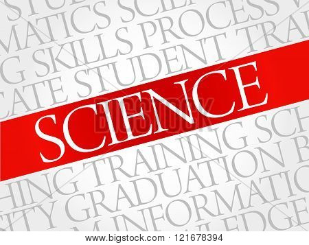 SCIENCE word cloud, education concept, presentation background