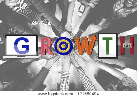Growth Progress Success Achievement Concept