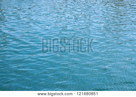 calm blue water surface background