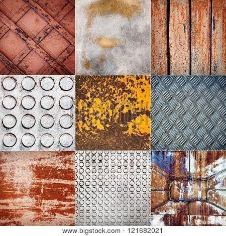 Collection Of Various Metal Textures
