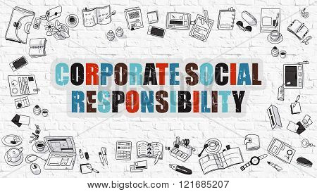 Corporate Social Responsibility Concept.