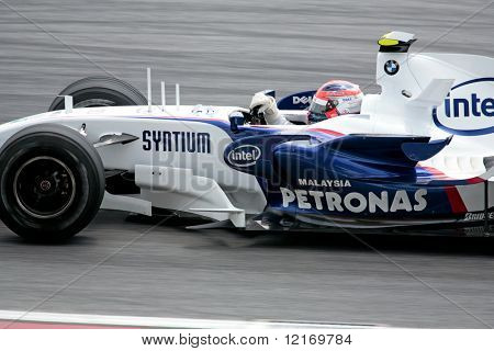 f1 2007 BMW Petronas driver, Kubica in close-up