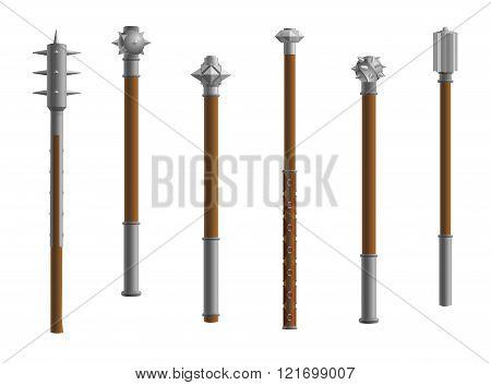 spear medieval wearpons mace