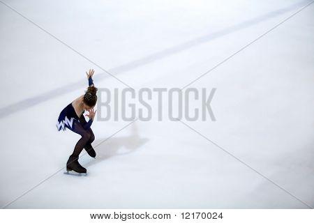 figure-skater waiting to start