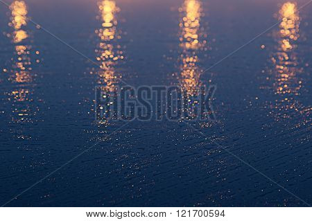 The golden-blue abstract background, similar to the sunset.