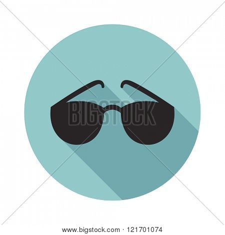 Sunglasses flat icon. Vector illustration.