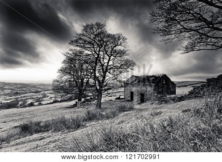 Ruined Barn On The Roaches