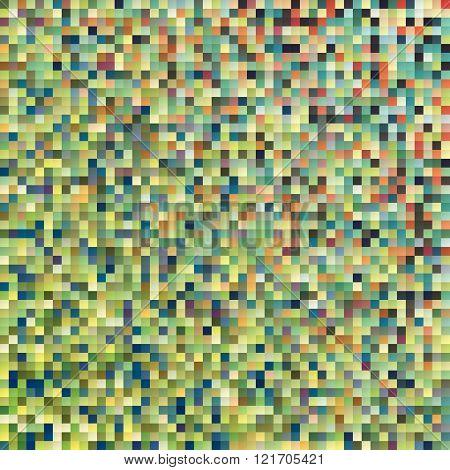 A retro pixel art vector background pattern