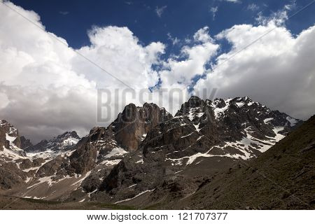Mountains And Sky With Clouds In Nice Day