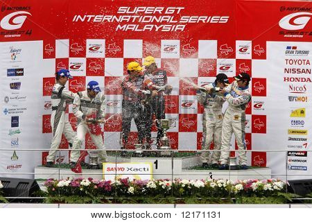 JAPAN - JUNE: Super GT 2008 Round 4 podium in Japan, Malaysia