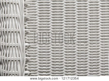 Basket Texture Weave Pattern, White Wicker Background
