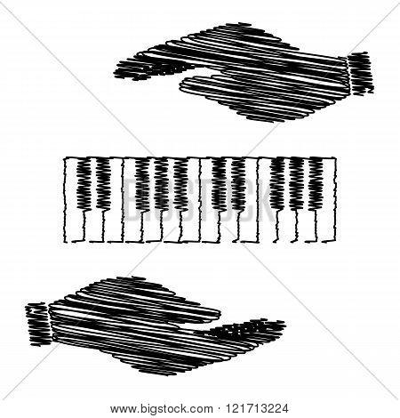 Piano Keyboard  sign