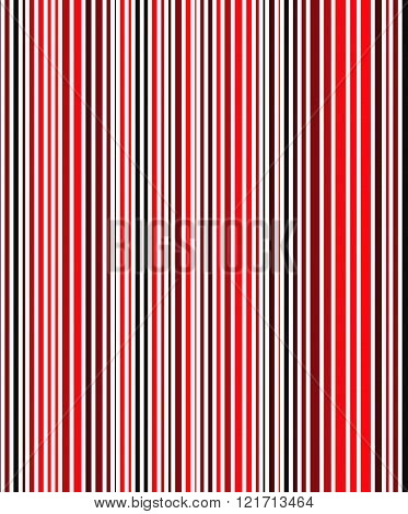 Seamless Bright Full Color Stripe Pattern With Black And Red Bands. Vector Illustration For Your Des