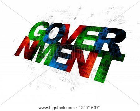 Politics concept: Government on Digital background