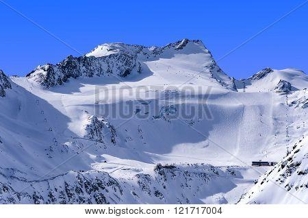 Ski Area On Rettenbach Glacier, Solden, Austria