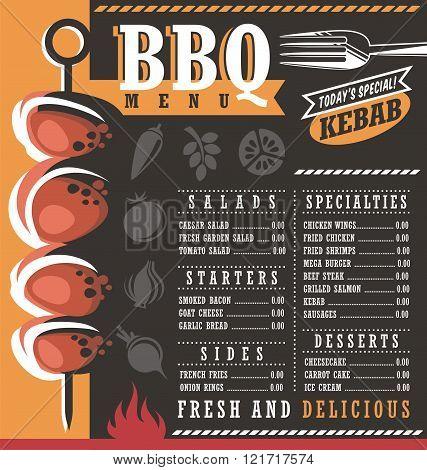 BBQ restaurant menu design