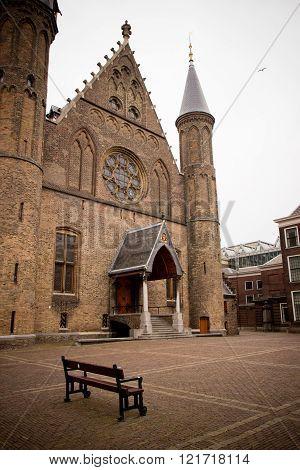 door of an Ridderzaal building in HAGUE