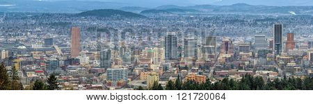 Portland Oregon Cityscape Panorama