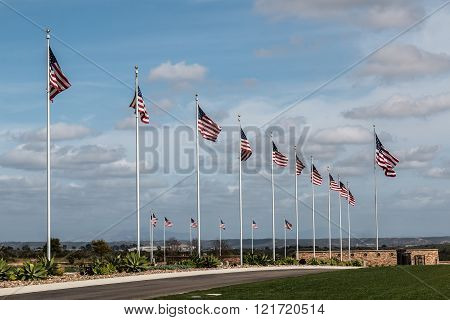 Miramar National Cemetery at The Avenue of Flags