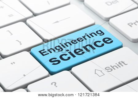 Science concept: Engineering Science on computer keyboard background