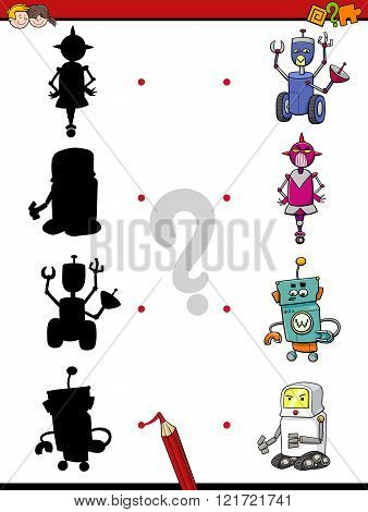 Preschool Shadow Activity With Robots