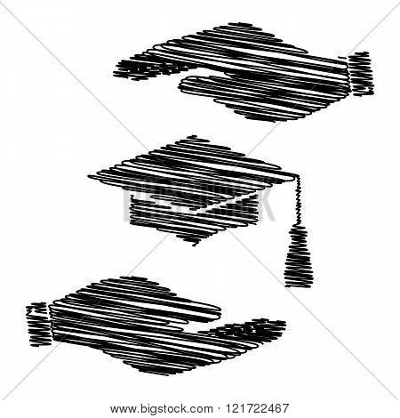 Mortar Board or Graduation Cap, Education symbol