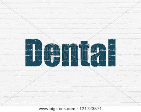 Medicine concept: Dental on wall background