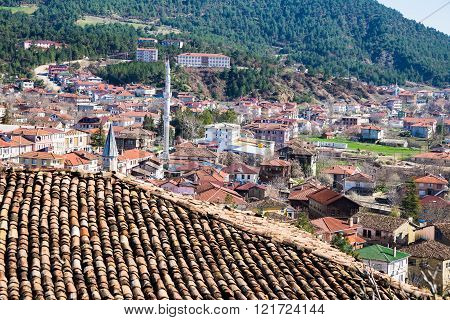 Rooftop View Of Traditional Town Tarakli Which Is A Historic District In The Sakarya Province