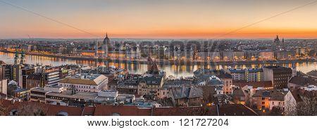 Panorama Of Budapest, Hungary