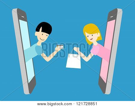 online, mobile and internet marketing. vector