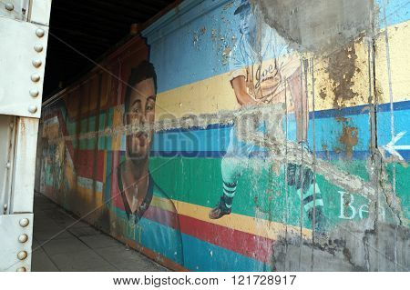 Cass Street Sports Mural